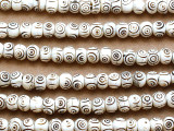 Carved Bone Prayer Beads Mala - Nepal 8mm (NP481)