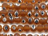 Amber Eye Glass Beads - Nepal 10mm (NP494)