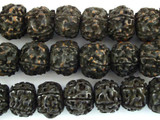 Old Rudraksha Prayer Beads Mala - Nepal 16mm (NP541)