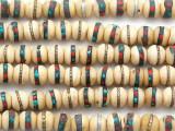 Antiqued Bone Prayer Beads Mala - Nepal 8mm (NP546)
