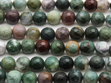 Fancy Jasper Faceted Round Gemstone Beads 10mm (GS3117)