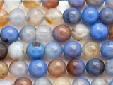 Blue Agate Round Gemstone Beads 12mm (GS3138)