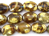 Tiger Fire Agate Oval Tabular Gemstone Beads 20mm (GS3146)
