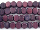 Purple Tabular Wood Beads 9mm - Indonesia (WD254)