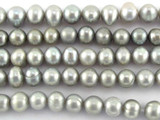 Silver Potato Pearl Beads 6mm (PRL145)