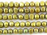 Metallic Gold Irregular Pearl Beads 6mm (PRL152)