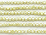 Yellow Irregular Pearl Beads 6mm (PRL154)