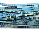 Blue Chromitite Cube Gemstone Beads 3mm (GS3164)