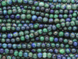 Azurite Round Gemstone Beads 4mm (GS3172)