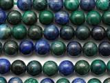 Azurite Round Gemstone Beads 8mm (GS3173)
