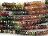 Watermelon Tourmaline Rondelle Gemstone Beads 4mm (GS3189)