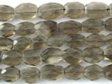 Smoky Quartz Faceted Oval Gemstone Beads 8-13mm (GS3202)
