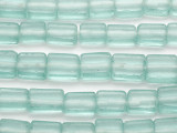 Pale Aqua Rectangular Recycled Glass Beads - Indonesia 12-20mm (RG575)