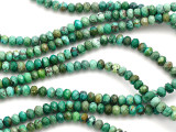 Turquoise Faceted Rondelle Beads 6mm (TUR1082)