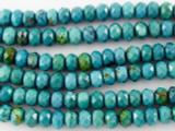 Turquoise Faceted Rondelle Beads 6mm (TUR1083)