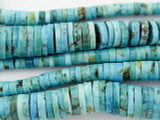 Turquoise Graduated Heishi Beads 3-10mm (TUR1093)