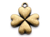 Brass Clover - Pewter Pendant 20mm (PW1135)