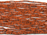 "Small Orange Glass Beads - 44"" strand (JV9046)"