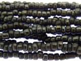 "Charcoal Gray Glass Beads - 44"" strand (JV9058)"
