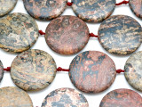 Leopardskin Jasper Tabular Gemstone Beads 40mm (GS3223)