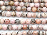Rhodonite Round Gemstone Beads 7.5mm (GS3226)