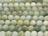 Etched Jade Round Gemstone Beads 10mm (GS3279)