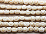 Off-White Irregular Round Glass Beads 12mm (JV927)
