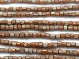 Tan Brown w/Stripes Graduated Glass Beads 3-6mm (JV993)
