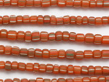 Dark Orange w/Stripes Glass Beads 5-7mm (JV1006)