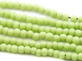 Melon Green Irregular Round Glass Beads 4-5mm (JV965)