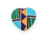 Inlaid Southwest Heart Pendant - Charm 15mm (GSP194)