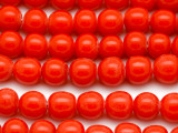 Red Irregular Round Glass Beads 9-10mm (JV1015)