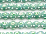 Sage 'Eye' Glass Beads 12mm (JV1066)