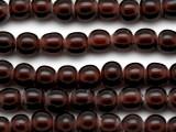 Purple Transparent Irregular Round Glass Beads 9-10mm (JV1018)