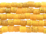 Speckled Yellow Glass Beads 6mm (JV1073)