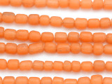 Orange Glass Beads 7-11mm (JV1035)