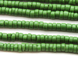 Olive Green Heishi Glass Beads 5-8mm (JV1109)