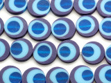 Purple & Blue Resin Beads 19mm (RES572)