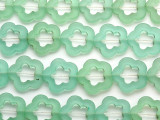 Transparent Sea Foam Green Flower Resin Beads 28mm (RES576)