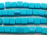 Teal Blue Cube Resin Beads 10-12mm (RES577)