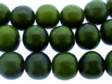 Forest Green Round Resin Beads 13-15mm (RES578)