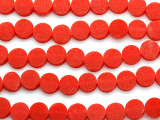 Cherry Red Tabular Resin Beads 10mm (RES546)