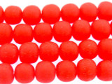 Cherry Red Irregular Round Resin Beads 8mm (RES548)