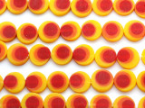 Yellow, Red & Orange Resin Beads 15mm (RES562)