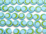 Sky Blue & Green Resin Beads 15mm (RES567)