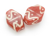 Brick Red Tabular Glass Bead 35-39mm (CB451)