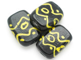 Black Tabular Glass Bead 38mm (CB460)