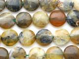 Yellow Agate Tabular Gemstone Beads 14mm (GS3321)