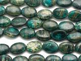 Turquoise Silver Line Jasper Oval Gemstone Beads 13mm (GS3323)