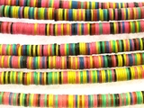 Mixed Vinyl Disc Beads 3-4mm (VY186)